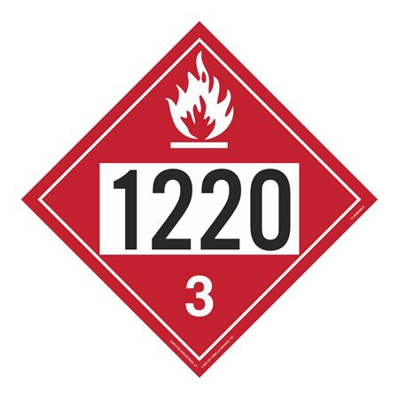 UN#1220 Flammable Stock Numbered Placard