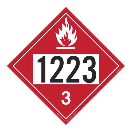 UN#1223 Flammable Stock Numbered Placard