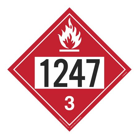 UN#1247 Flammable Stock Numbered Placard