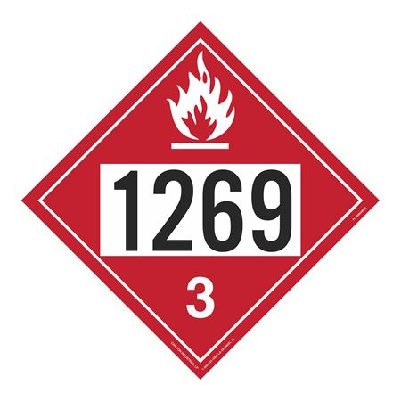 UN#1269 Flammable Stock Numbered Placard