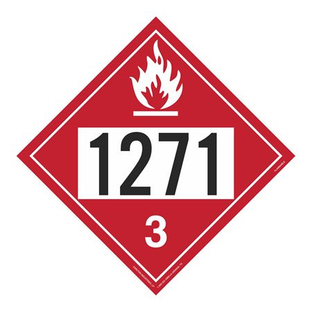 UN#1271 Flammable Stock Numbered Placard