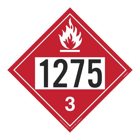 UN#1275 Flammable Stock Numbered Placard