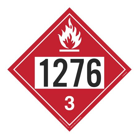 UN#1276 Flammable Stock Numbered Placard