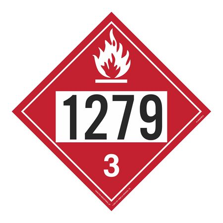 UN#1279 Flammable Stock Numbered Placard