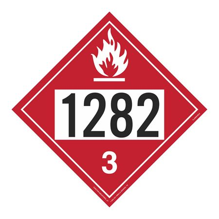 UN#1282 Flammable Stock Numbered Placard