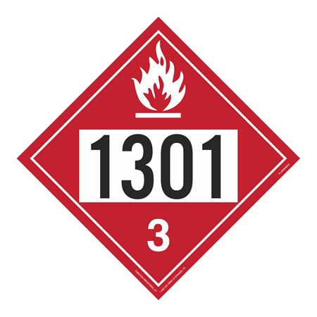 UN#1301 Flammable Stock Numbered Placard