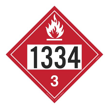 UN#1334 Flammable Stock Numbered Placard