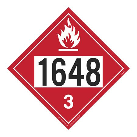 UN#1648 Flammable Stock Numbered Placard