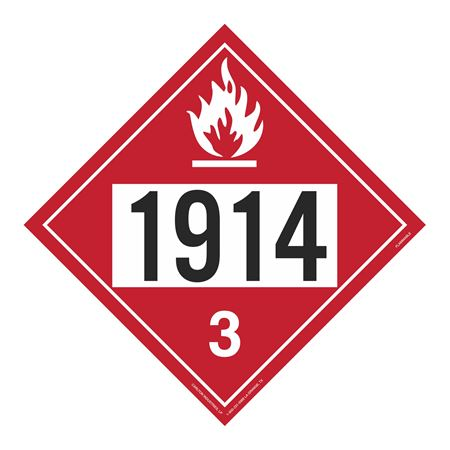 UN#1914 Flammable Stock Numbered Placard