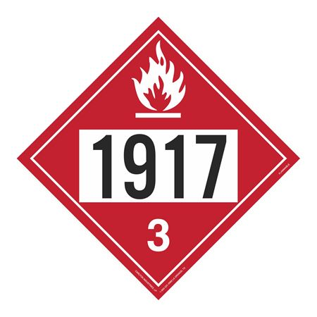 UN#1917 Flammable Stock Numbered Placard