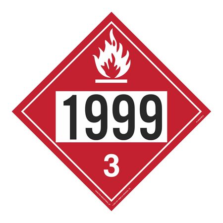 UN#1999 Flammable Stock Numbered Placard