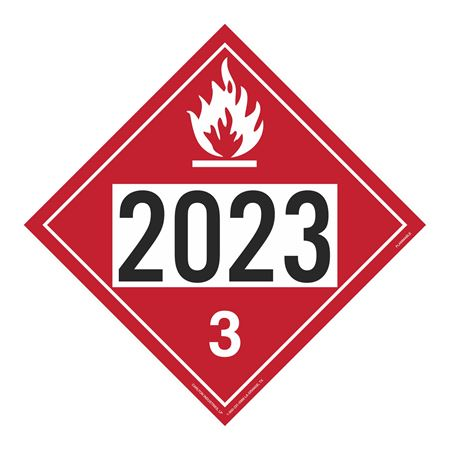 UN#2023 Flammable Stock Numbered Placard