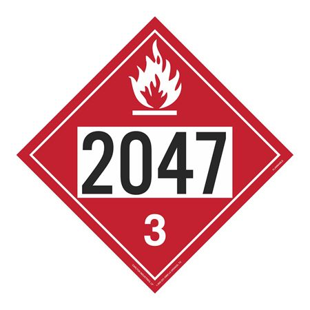 UN#2047 Flammable Stock Numbered Placard