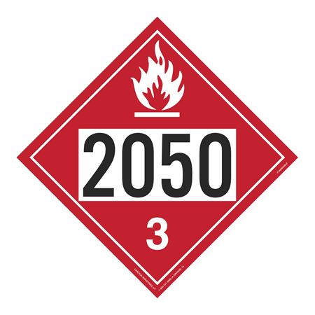 UN#2050 Flammable Stock Numbered Placard