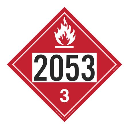 UN#2053 Flammable Stock Numbered Placard
