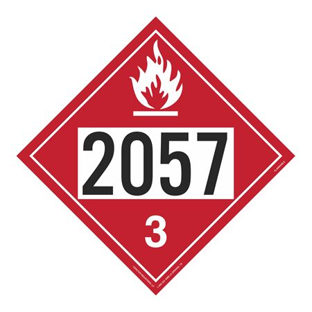 UN#2057 Flammable Stock Numbered Placard