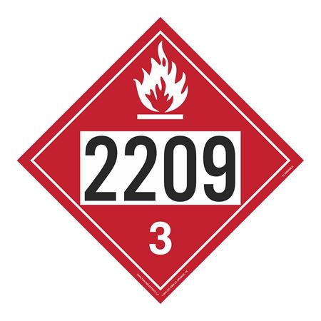 UN#2209 Flammable Stock Numbered Placard