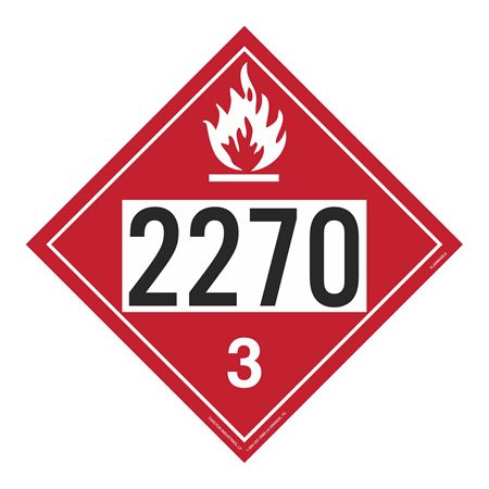 UN#2270 Flammable Stock Numbered Placard