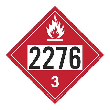 UN#2276 Flammable Stock Numbered Placard
