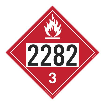 UN#2282 Flammable Stock Numbered Placard