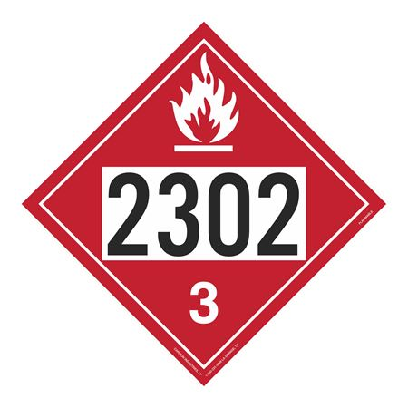 UN#2302 Flammable Stock Numbered Placard