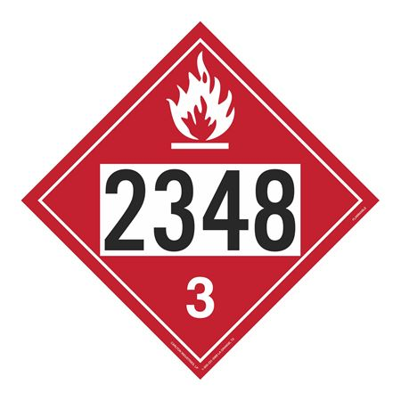 UN#2348 Flammable Stock Numbered Placard