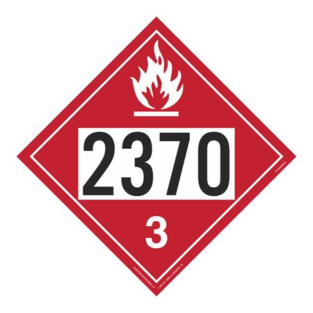 UN#2370 Flammable Stock Numbered Placard