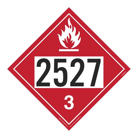 UN#2527 Flammable Stock Numbered Placard
