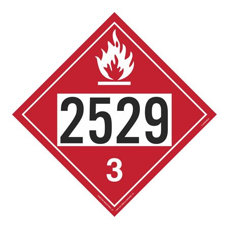 UN#2529 Flammable Stock Numbered Placard