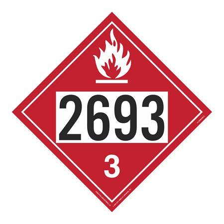 UN#2693 Flammable Stock Numbered Placard