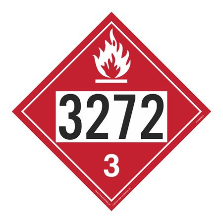 UN#3272 Flammable Stock Numbered Placard