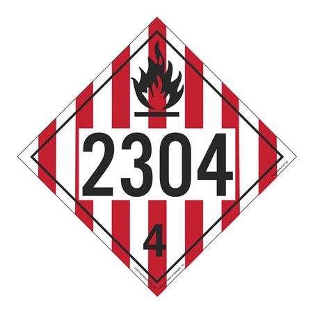 UN#2304 Flammable Solid Stock Numbered Placard