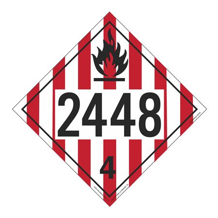 UN#2448 Flammable Solid Stock Numbered Placard