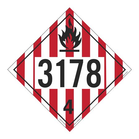 UN#3178 Flammable Solid Stock Numbered Placard
