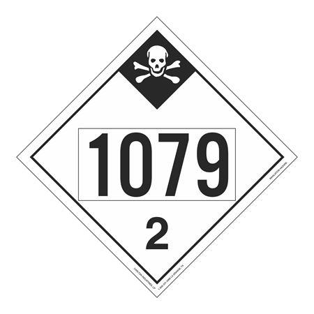 UN#1079 Inhalation Hazard Stock Numbered Placard
