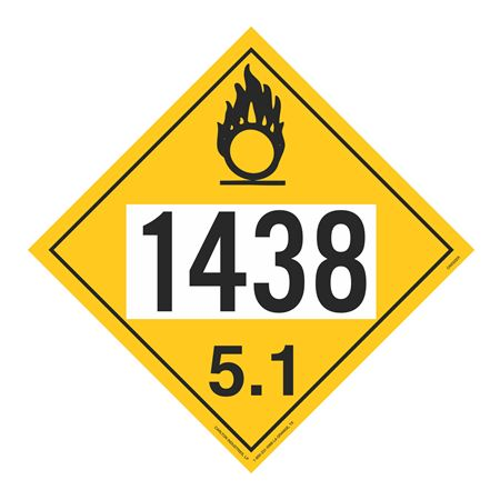 UN#1438 Oxidizer Stock Numbered Placard
