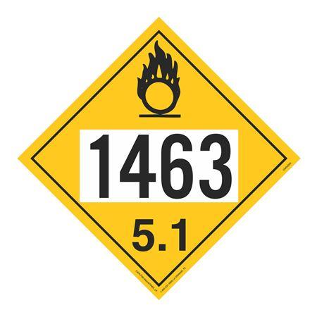UN#1463 Oxidizer Stock Numbered Placard