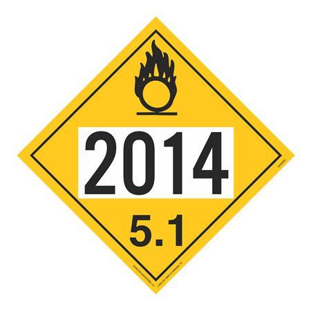 UN#2014 Oxidizer Stock Numbered Placard