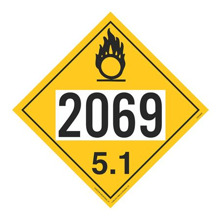 UN#2069 Oxidizer Stock Numbered Placard