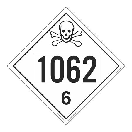 UN#1062 Poison Stock Numbered Placard