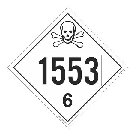 UN#1553 Poison Stock Numbered Placard