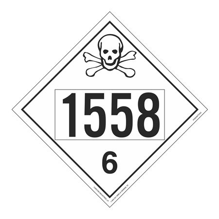 UN#1558 Poison Stock Numbered Placard