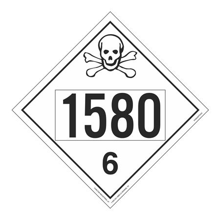 UN#1580 Poison Stock Numbered Placard