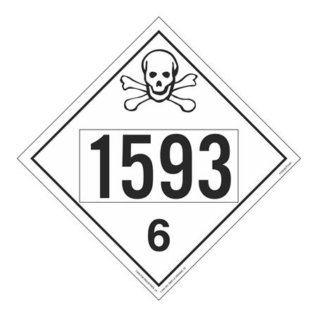 UN#1593 Poison Stock Numbered Placard