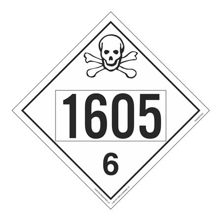 UN#1605 Poison Stock Numbered Placard