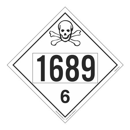 UN#1689 Poison Stock Numbered Placard