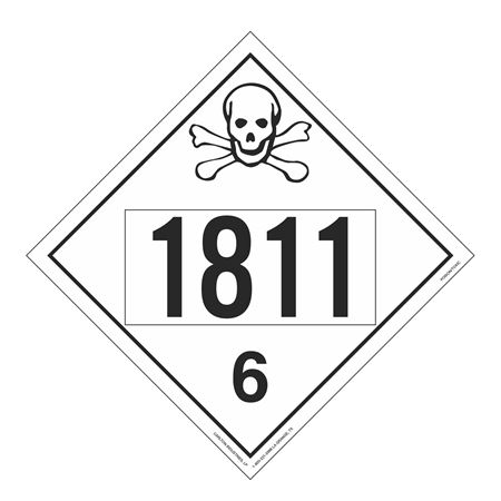 UN#1811 Poison Stock Numbered Placard