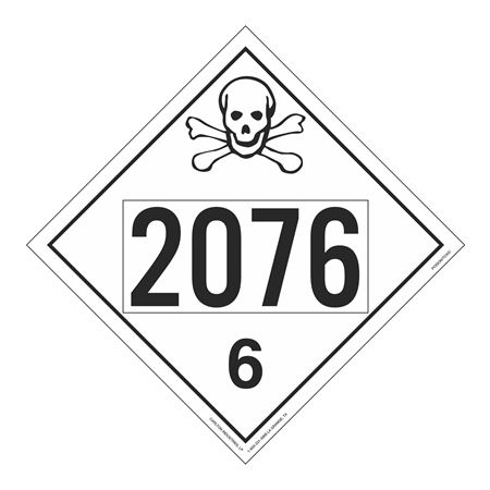 UN#2076 Poison Stock Numbered Placard