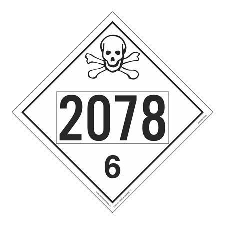 UN#2078 Poison Stock Numbered Placard