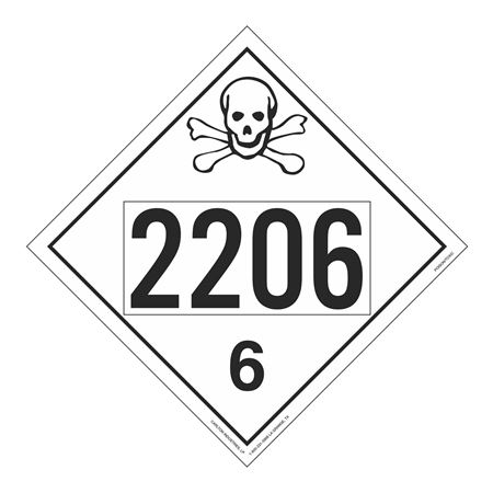UN#2206 Poison Stock Numbered Placard